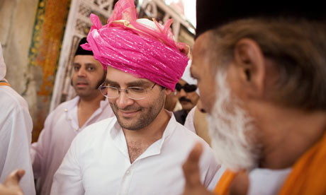 Rahul Gandhi campaigning ahead of the Indian national elections