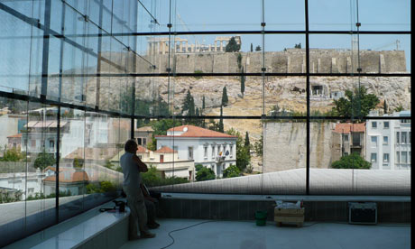 The Parthenon viewed from Athens' new Acropolis Museum