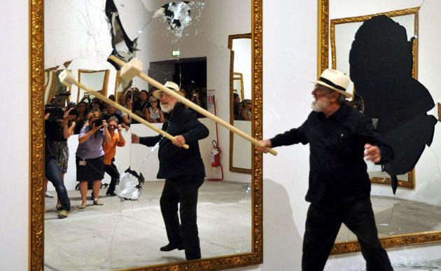 Seventeen One Less - Michelangelo Pistoleto via http://www.guardian.co.uk