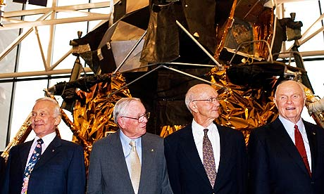 Apollo 11 astronauts Buzz Aldrin, Neil Armstrong, Michael Collins and John Glenn