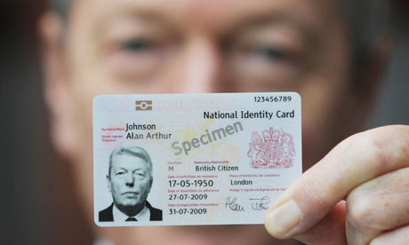 Alan Johnson reveals the design of the British national identity card