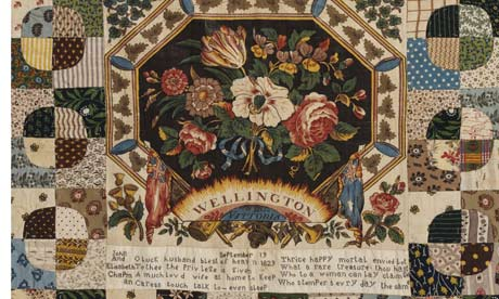 Detail of an 1829 quilt by Elizabeth Chapman