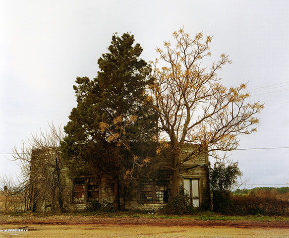 William Christenberry - Palmist Building (Winter), Havana Junction, Alabama 1981