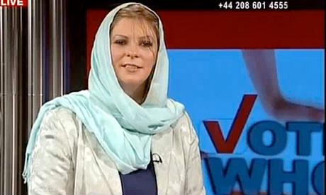 Lauren Booth presents Press TV news show