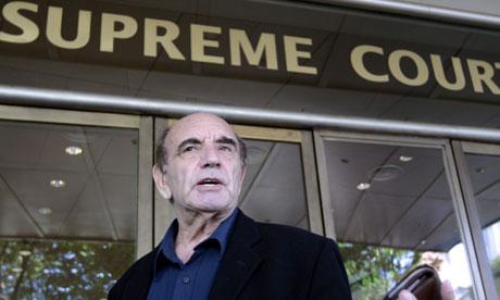 British author Alan Shadrake enters the Supreme Court