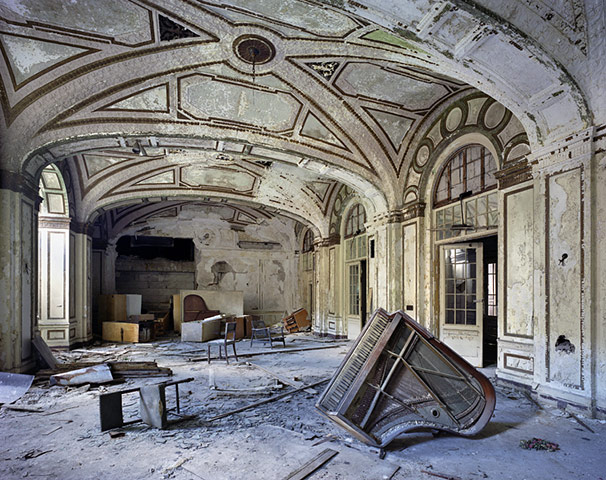Ruins of Detroit: The ballroom of the 15-floor art-deco Lee Plaza Hotel