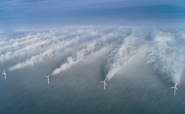 Not the Kent wind farm but one in Denmark looking particularly beautiful