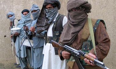Taliban fighters in eastern Afghanistan