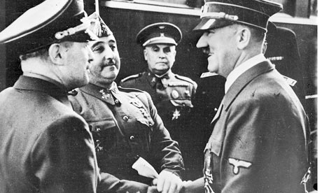 General Franco meeting Adol Hitler