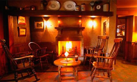 Hall fireplace