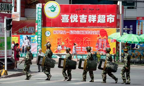 Security forces in Urumqi, Xinjiang