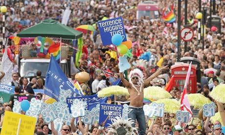 Gay Pride March Through London