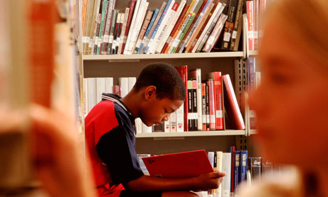 Youth Reading in a Library