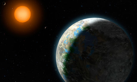 An artist's impression of  Gliese 581g