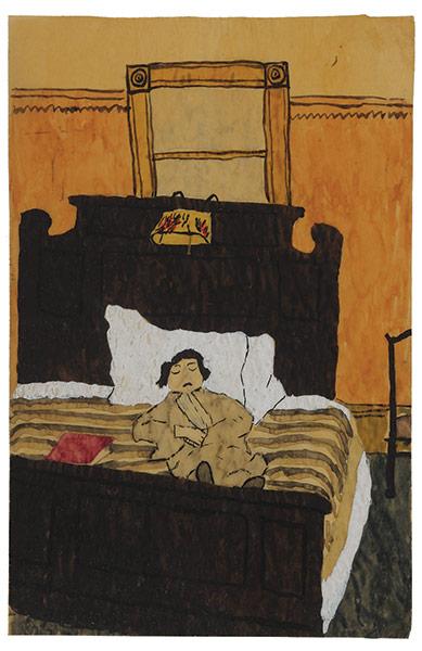 Exchanging Hats book: Sleeping Figure, a painting by Elizabeth Bishop