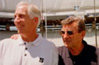 Penn State head football coach Joe Paterno, right, with Jerry Sandusky in 1999