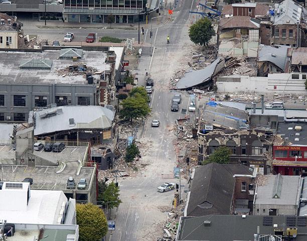 new zealand earthquake: Debris litters central Christchurch