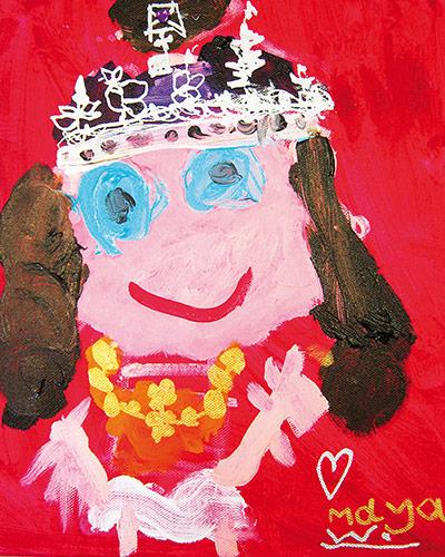 Portrait of Queen Elizabeth II - children's art ...