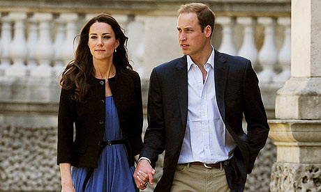 William and Kate leave Buckingham Palace