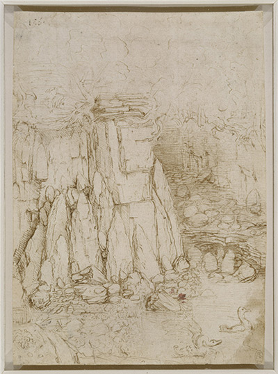 Leonardo da Vinci, 'A Rocky Ravine,' ca. 1480-3