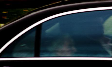 The big Swiss cheese: David Rockefeller arrives at Bilderberg 2011