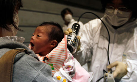 Fukushima radiation testing