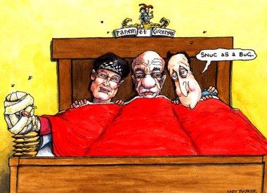 Gary Barker's comment cartoon 18.07.2011