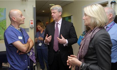 Health Secretary hospital visit