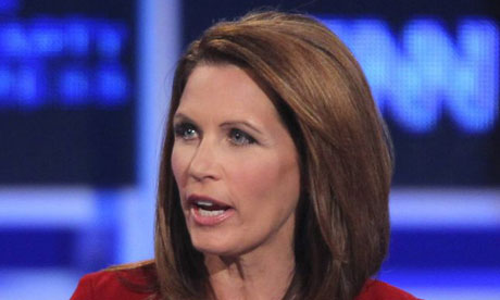 Michele Bachmann speaks during the GOP debate