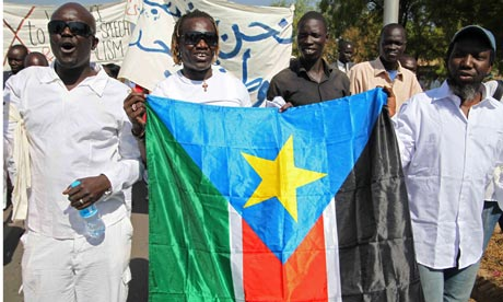 Sudan protesters appealing for peace