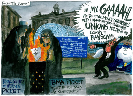 20.01.12: Martin Rowson on union opposition to the health and social care bill