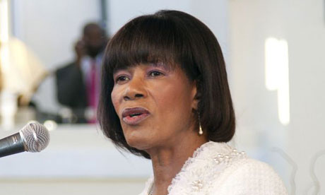 Portia Simpson Miller, installed as Jamaican prime minister for a second time