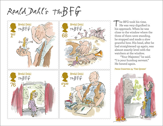 Roald Dahl stamps: The BFG