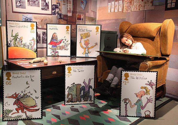 Roald Dahl stamps: Ashley Queyrel-Jordan