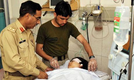 Army doctors treating Malala Yousafzai in Peshawar