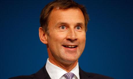 Jeremy Hunt, Health Minister for England