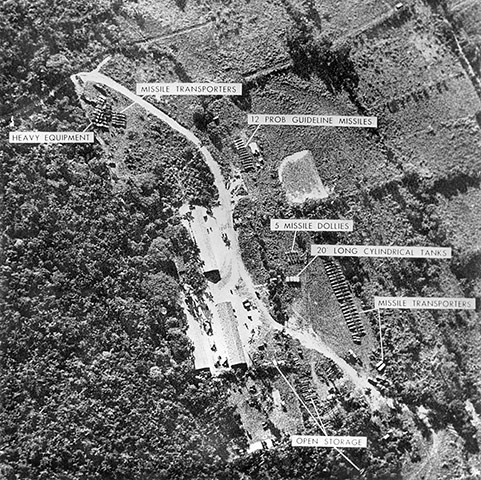 Cuban missile crisis : Aerial view of one of the Cuban bases