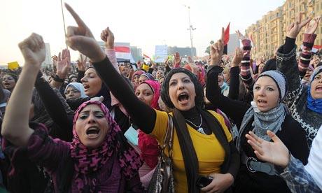 Women in Tahrir square in November 2011