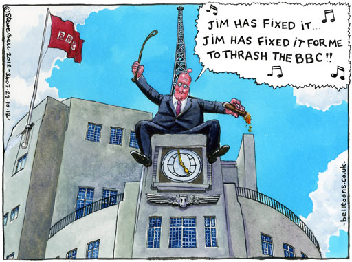 23.10.12: Steve Bell on David Cameron, the BBC and the Jimmy Savile scandal