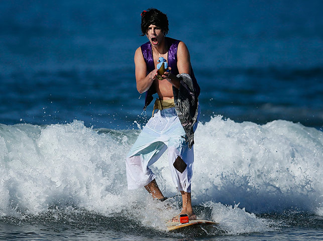 Halloween Surf: Halloween surf contest in Santa Monica