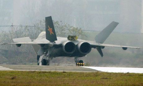 A Chinese J-20 stealth jet
