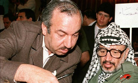 Abu Jihad with Yasser Arafat in 1987
