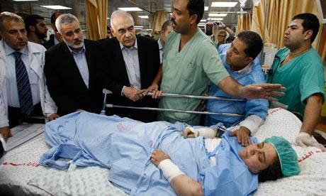 Egypt Foreign Minister Amr hospital iGaza City