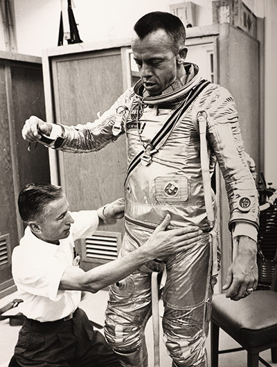 Space: Alan Shepard is prepared for flight