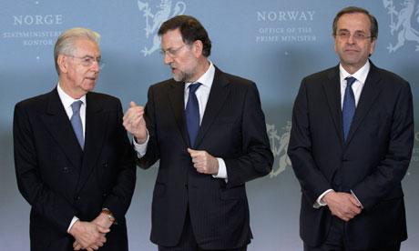monti resignation eurozone panic