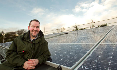 Solar panel installation at the Eden Project