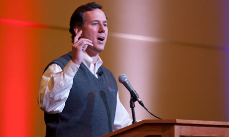 Rick Santorum in Bemidji, Minnesota.