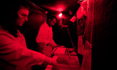 The portable obscure darkroom at Manchester Royal eye hospital