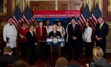Democratic senators speak on contraception bill