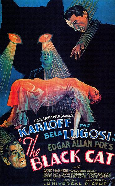 Top Selling Film Posters: Top Selling Film Posters - The Black Cat, 1934
